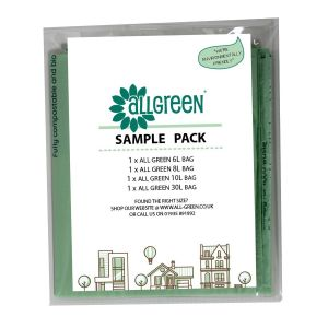 Sample Compostable Bag Pack - 6L, 8L, 10L, 30L