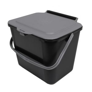 Kitchen Caddy - 5L Size - Black & Silver Grey