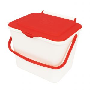 Kitchen Caddy - 5L Size - Cream & Red