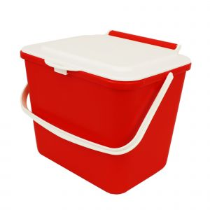 Kitchen Caddy - 5L Size - Red & Cream