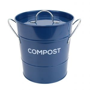 Caddy Company Metal Compost Pail - Food Waste Bin in Dark Blue - Main