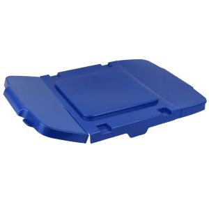 Blue Coral Hard Plastic Flexi-Lid for Outdoor Recycling Boxes