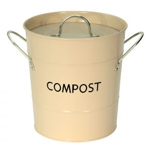 Buttercream Metal Compost Pail