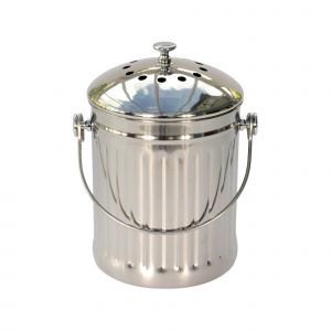 Polished Stainless Steel Compost Caddy