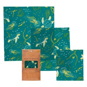 Bee's Wrap Food Covers - Set of 3 - Ocean's Print Design