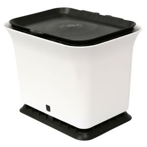 Full Circle Odour-Free Compost Collector– 5.7L – White & Black