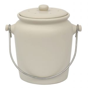 Garden Trading Ceramic Compost Crock - Off White