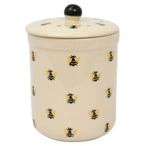 Haselbury Ceramic Compost Caddy - Honey Bee