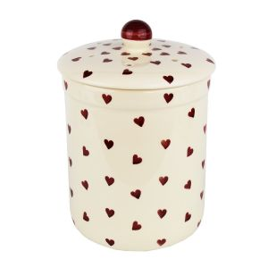 Haselbury Ceramic Compost Caddy - Red Queen of Hearts