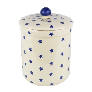 Haselbury Ceramic Compost Caddy -Blue Twinkle Stars