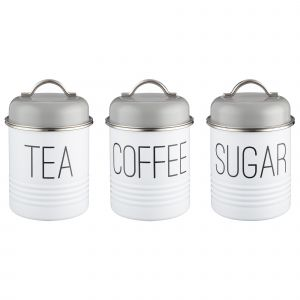 Typhoon Mayfair Set of Storage Canisters for Tea, Coffee and Sugar - Product Image.