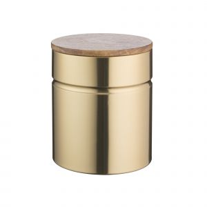 Typhoon Modern Gold Small Storage Kitchen Canister for Tea, Sugar or Coffee - Product View
