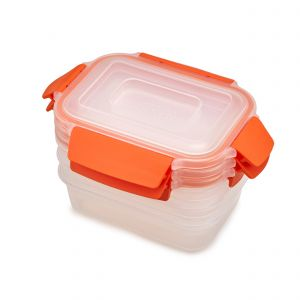 Joseph Joseph Nest Lock 3-Piece Storage Container Set (3 x 540ml) - Orange - Main 3