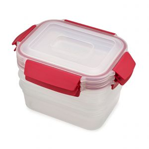 Joseph Joseph Nest Lock 3-Piece 1.1L Container Set - Red