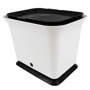 Full Circle Odour-Free Compost Collector– 5.7 Litre – White & Black