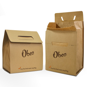 Obeo - 8L Paper Food Waste Box - Pack of Compostable Kitchen Caddies