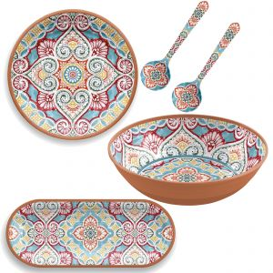 Rio Corte Melamine Serving Set with Salad Bowl
