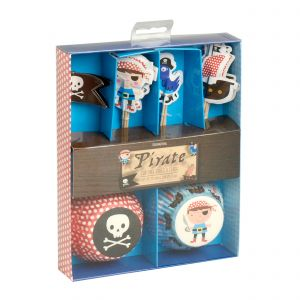 Pirate Cupcake Cases & Flag Set