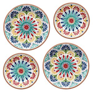 Rio Medallion Melamine Dinner & Side Plate Set