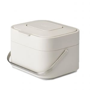 Joseph Joseph Stack 4 Food Waste Caddy - Stone - 4 Litres