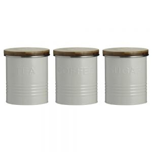 Typhoon Essentials (Tea, Coffee, Sugar) Canisters - Cream