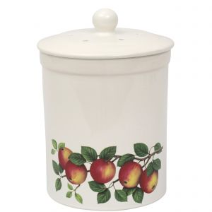 Ashmore Ceramic Compost Caddy - Apple