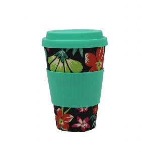 Addis Bamboo Reusable Travel Mug - Floral