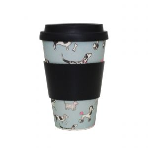 Addis Bamboo Reusable Travel Mug - Dogs
