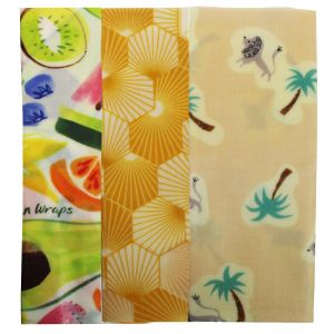 Bee's Wrap Food Covers - Jumbo - Pink/Lion/Palm Design