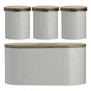 Typhoon Essentials (Tea, Coffee, Sugar & Bread) Canisters- Cream