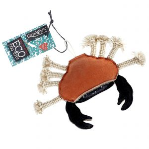 Green & Wilds Eco Dog Toy - Carlos the Crab