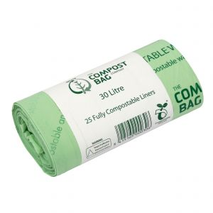30L Compost Bag Compostable Kerbside Caddy Liners (Large Roll)