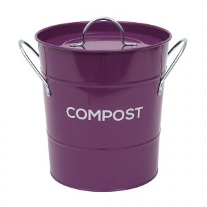 Purple Metal Compost Pail