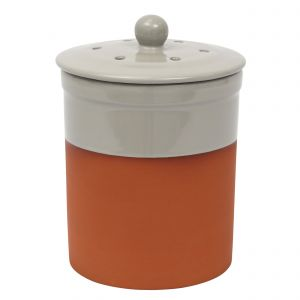 Chetnole Terracotta Compost Caddy - Pale Grey
