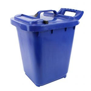 Large Kerbside Compost Caddy with Locking Lid - 23L - Dark Blue