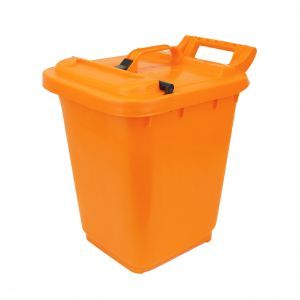 Large Kerbside Compost Caddy with Locking Lid - 23L - Orange