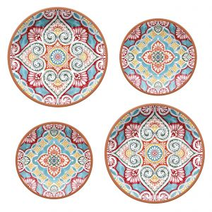 Rio Corte Melamine Dinner & Side Plate Set - 2 Sets