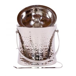 Elegant Ice Bucket & Tongs