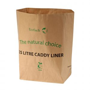 25L EcoSack Paper Compostable Kerbside Caddy Liners