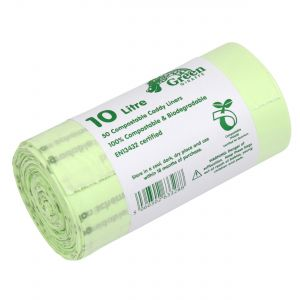 10L Green Giraffe Compostable Kitchen Caddy Liners (Large)