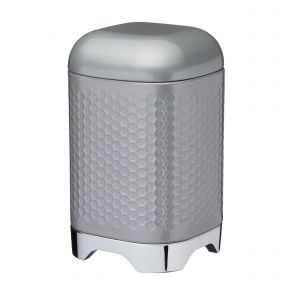 Lovello Textured Grey Plain Canister