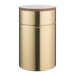 Typhoon Modern Gold Large Storage Kitchen Canister for Tea, Sugar or Coffee - Product Shot