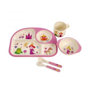 Eco Bamboo 5PC Kids Set - Princess
