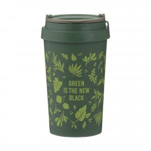 Pure Wheat Fibre Travel Mug (380ml) - 'Green is the New Black'
