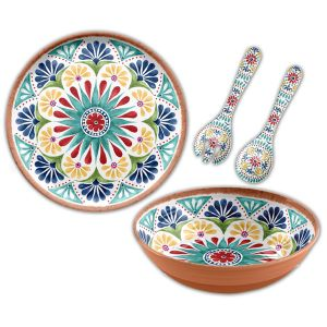 Rio Medallion Melamine Serving Set - 3 piece with Platter