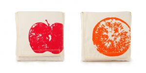 Fluf Snack Pack Set - Apples & Oranges Design