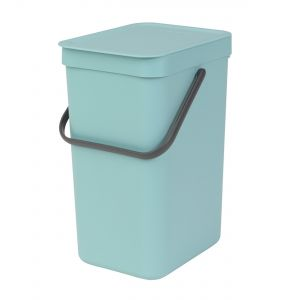 Brabantia Sort & Go Kitchen Recycling Bin - Mint - 12L Size
