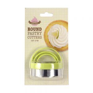 Round Pastry/Cookie Cutter Set - 3 Piece