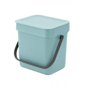 Brabantia Sort & Go Small Kitchen Food Waste Bin – Mint/Blue - 3L