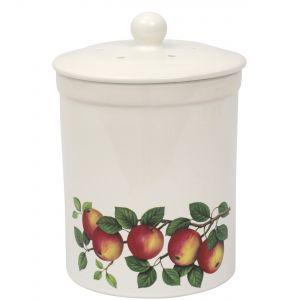 Ashmore Ceramic Compost Caddy - Apple